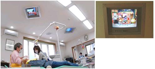 天井テレビの写真
